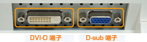 DVI-D端子とD-sub端子
