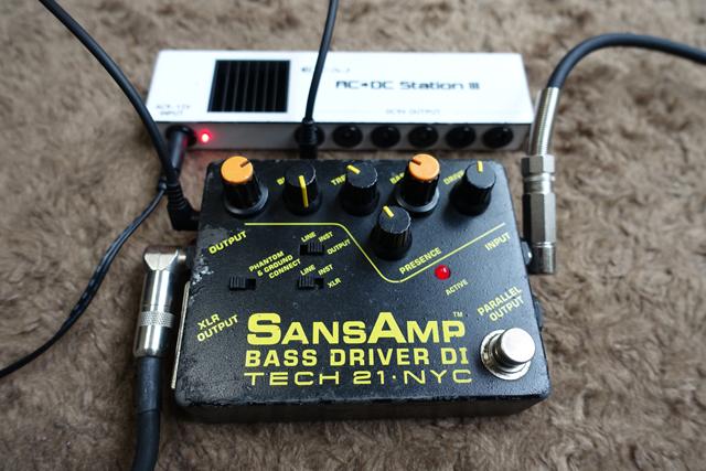 稼働中のSansAmp Bass Driver DI